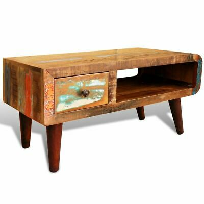 New Reclaimed Home Furniture Vintage Wood Tea Table Coffee Table One Curved Edge