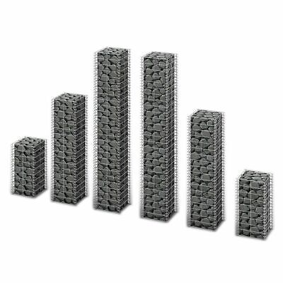 New Garden Gabion Set Galvanized Mesh Gabion Basket Box 6 pcs 50 / 100 / 150 cm