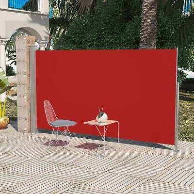 New Patio Terrace Side Awning 180 x 300 cm Red Steel Automatic Roll-back Durable