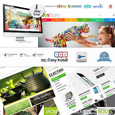 Ebay Store Design & Listing Template Professional Dynamic Fully Custom