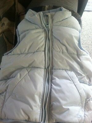 #0281 H&M Logg Pale Pastel Blue Quilted Vest Little Girls Size 4-5 Years Old