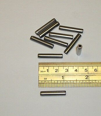 "3/16 X 1"" apprx. Stainless Steel Coil Spring Pin Roll Pin   MS39086-253  10 Pcs."