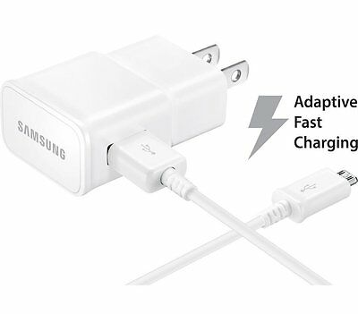 New OEM Samsung Fast Adaptive Charging USB Wall Charger Adapter + 3Ft USB Cable