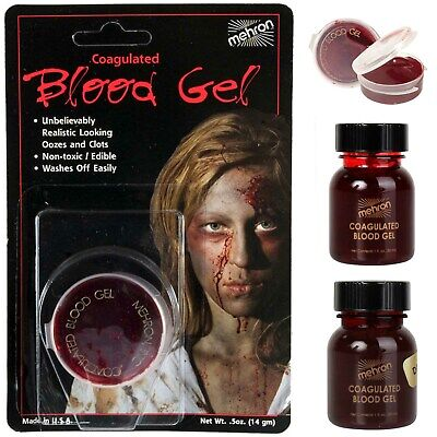 Mehron Coagulated Blood Gel Halloween Costume Special Effects Makeup Wounds