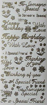 Mixed Greetings Greetings PEEL OFF STICKERS Friend Thinking of You With Love