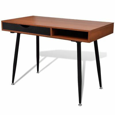 New Brown Workstation Computer Desk Laptop PC Table Home Office High Quality MDF