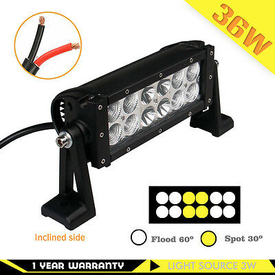 SLDX 36w 8'' Off Road Cree Led Light Bar Combo for Jeep SUV Car Led 12V IP68