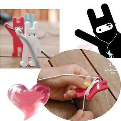 Mr Rabbit Shaped Earphone Cable Organizer Novelty Cable Holders Cord Winder 1PCs