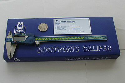 "DIGITAL CALIPER WATER RESISTANT 8"" / 200mm MOORE & WRIGHT of SHEFFIELD ENGLAND"