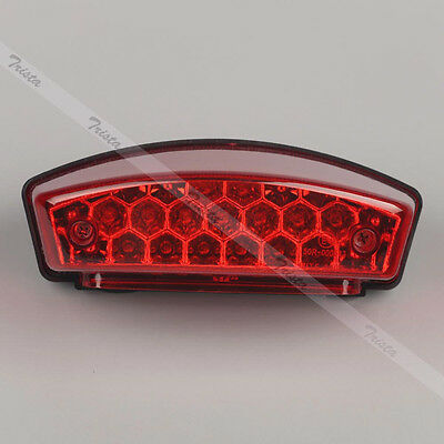 21 LED Red Motorcycle Bike Rear Brake Stop License Plate Integrated Tail Light