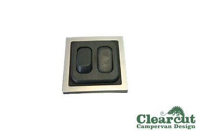 CBE 12v Double Light Switch Twin In-line Switch For Campervan/Motorhome SQ