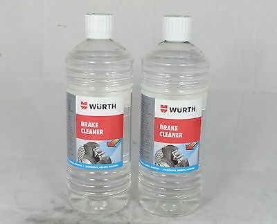 Genuine Wurth Brake Cleaner Solvent 2 Litre, 2L High Quality Leaves Clean, Trade