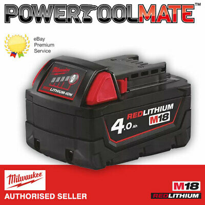Milwaukee M18B4 18v 4ah li-ion red battery *UK - Genuine Stock*