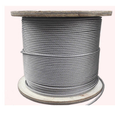 3/16Stainless Steel 304 Cable Wire Rope 5mm 16.4FT  7x19