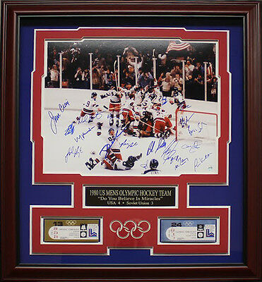 Miracle On Ice 1980 US Olympic Hockey Team Autographed Tribute