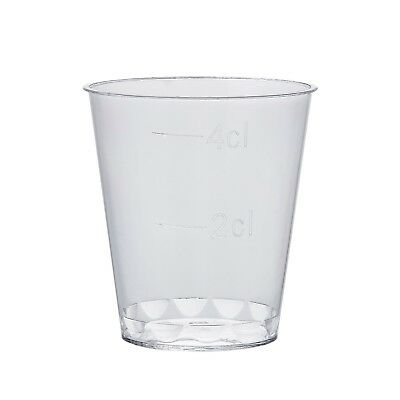 2500 x Clear Plastic Disposable Shot Glasses, Whisky Cups 1.4oz- Party & Wedding