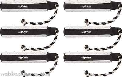 "Avery Dog 6 Pack 2"" Black & White FLASHER Hexabumper Hexa Bumper Dummy Training"