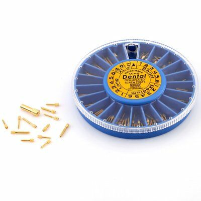 120 Pcs Nordin Assorted Dental Conical Screw Posts Kits Refills 24K Gold Plated