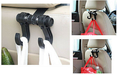 1pc Car Back Seat Rear Headrest Bag Purse Grocery Bag Hanger Holder Hook For BMW