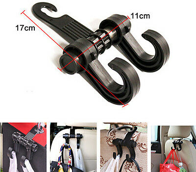 Car Back Seat Rear Headrest Bag Purse Grocery Bag Hanger Holder Hook For SUV 4WD