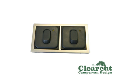 CBE 2 x 12v Light Switches, Switch with LED Indicator - Motorhome/Caravan/Camper
