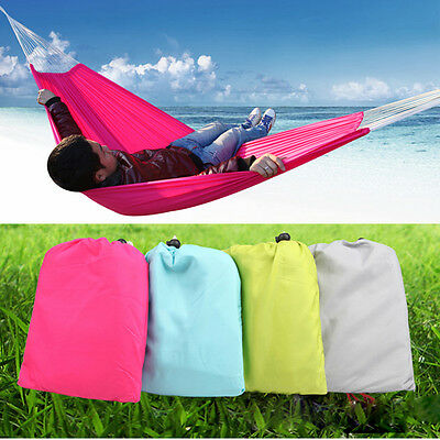Superb Double 2 Persons Hammock Camping Sleeping Hammock Garden Lawn Hanging Bed