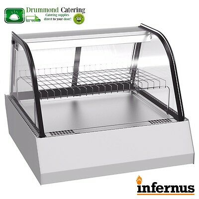 Heated Display Cabinet Food Pie Chicken Warmer Showcase 750MM 110L
