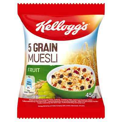 Kelloggs Luxury Muesli 50g x 32 Individual Packs Cereal Catering Portions Museli