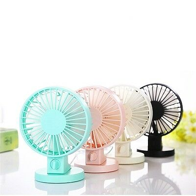 Mini Portable Dual Blade Desk Super Mute Laptop PC USB Cooler Small Fan OK
