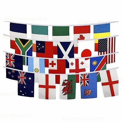 6.5m Small Rugby Worldcup Olympic Bunting Fabric Decorations 20 Flags