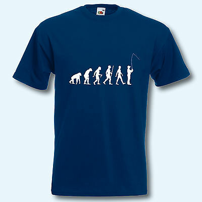 T-Shirt, Fun-Shirt, Evolution Angeln, S-XXXL