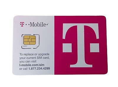 T-Mobile Sim CARD 4G LTE. FACTORY MICRO SIM. UNACTIVATED, REPLACEMENT SIM New