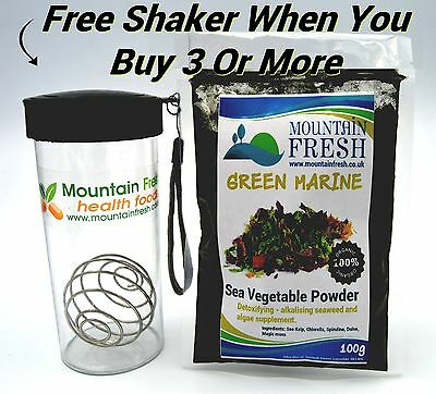 GREEN MARINE Detoxifying/Alkalising Powder 100g Organic Sea Vegetable Supplement
