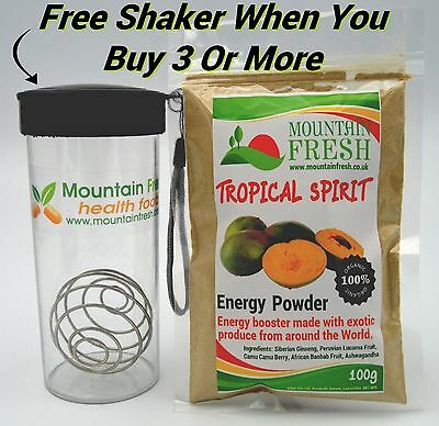 TROPICAL SPIRIT Energy Powder 100g - Organic Superfood Supplement