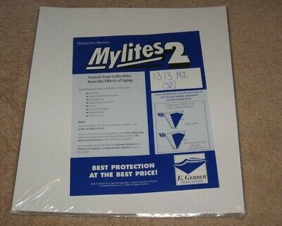Pack of 50 Mylites 2 Mil Mylar 33RPM LP Record Album Bags archival outer sleeves