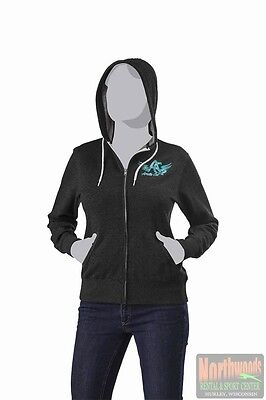 Arctic Cat Women's Arctic Cat Wings Full Zip Hoodie / Shirt - Dark Gray 5253-80*