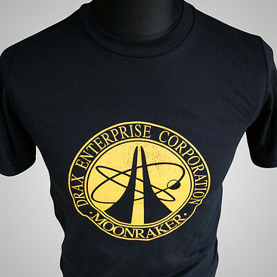 James Bond Drax Enterprise Corporation Moonraker T Shirt 007 Movie Themed Tee