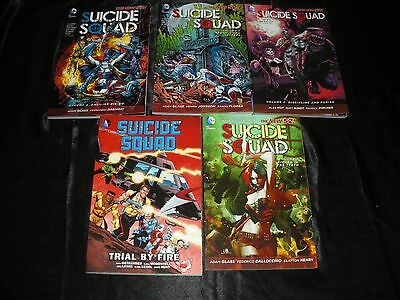 Suicide Squad Vol 1 Trial By Fire New 52 Vol 1  2  3  4 Death Is For Suckers Tpb