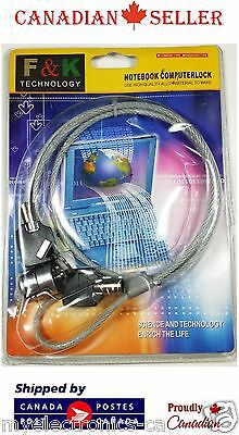New Laptop PC Computer Safety Lock Notebook Security Chain Steel Cable With Key