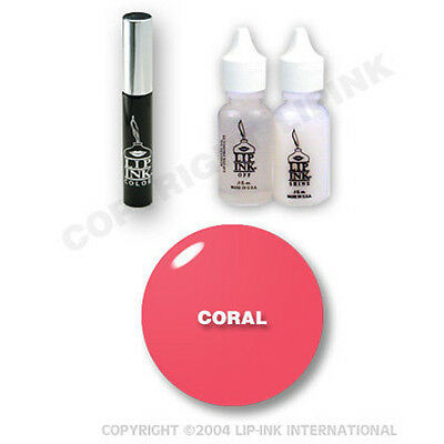 LIP INK Organic  Smearproof Special Edition Lip Kit - Coral