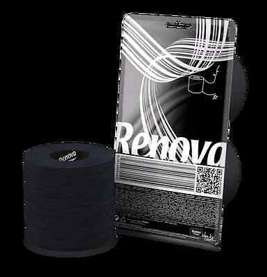 RENOVA 2 ROLL - BLACK - Toilet Paper The World's Sexiest Toilet Paper