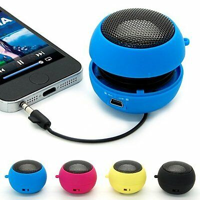 Mini Portable Hamburger Speaker Amplifier For iPod iPad Laptop iPhone Tablet PC