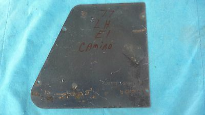 77  EL CAMINO Rear Bed Panel  Inspection Cover Plate  LEFT SIDE