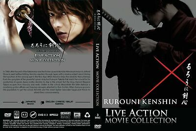 Japan Live Action DVD Rurouni Kenshin Collection Movie (3 Movies) Box Set