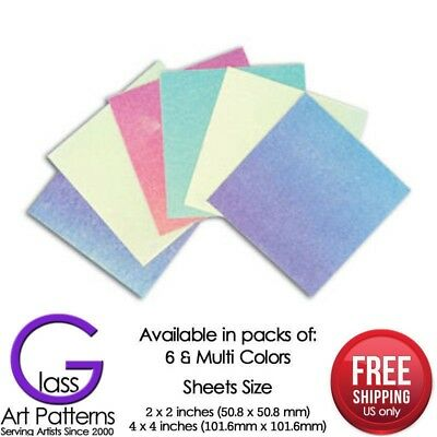 Hot Glass Supplies Dichro slide Dichroic Fusible Paper Sample 6 Pack