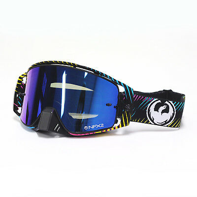 Dragon NEW Mx NFX2 Blur Injected Blue Steel Tinted Motocross Dirt Bike Goggles