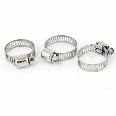 Hardware Parts Adjustable Stainless Steel 16-25mm Worm Gear Hose Clamp 3PCS