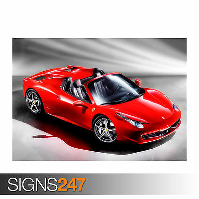 FERRARI 458 GT3 Photo Picture Poster Print Art A0 to A4 AB461 CAR POSTER