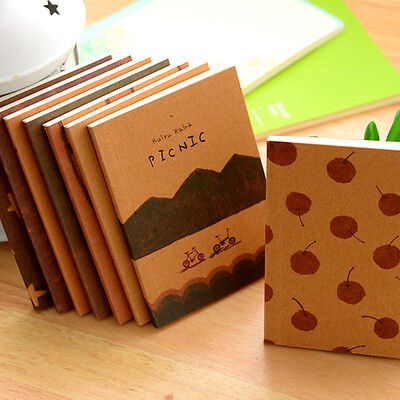 Recycled Paper Diary Notebook Memo Note Book Cute Charming Mini Portable