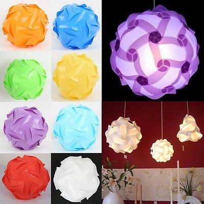 25cm Modern IQ Puzzle Jigsaw Ceiling Light Lamp Shade Lampshade DIY Kit Colorful